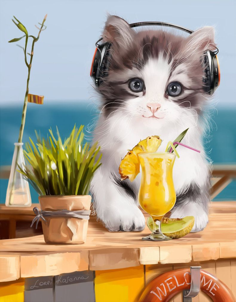 Musical Puppy Paint Shop Pro Compatible Psd Character Separate From Background 1440x1800x300ppi Picsfordesign Com En Catalog Cats Illustration Cat Artwork Cats