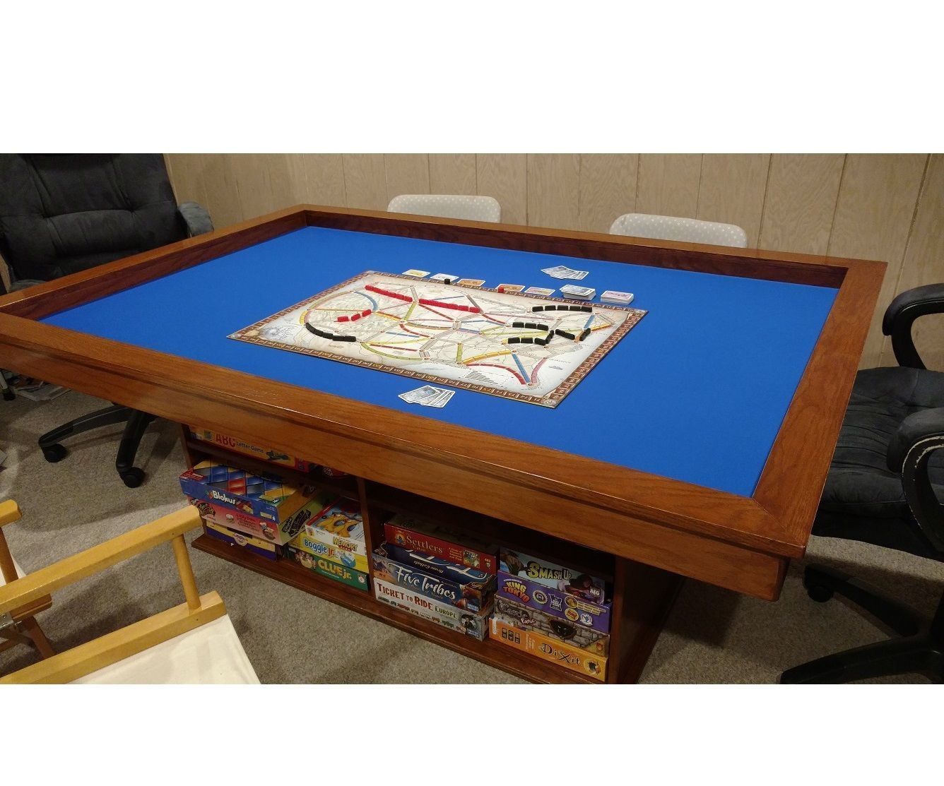 make your own gaming table with built-in game storage | play areas