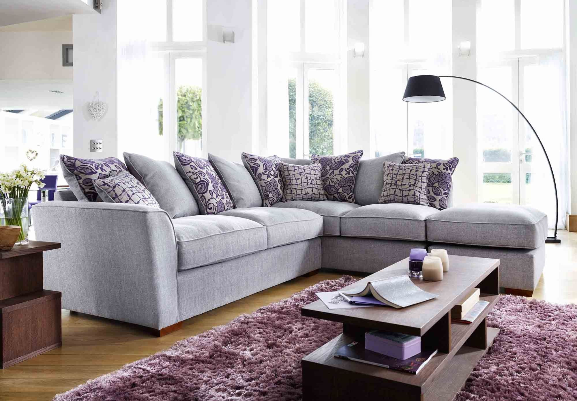 Drawing Room Corner Showpiece: Fable LHF Scatter Back Corner Sofa At Furniture Village