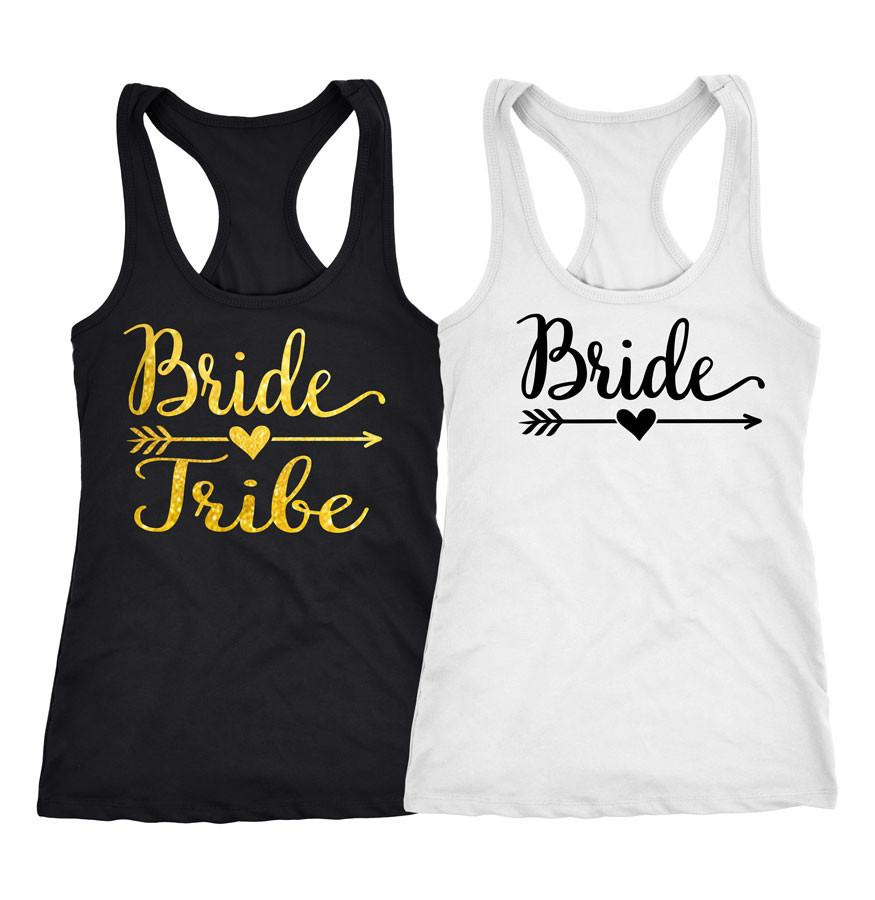 71be49e46b97f Bride Tribe Bachelorette party shirts and tanks