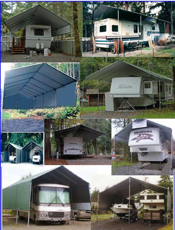 Portable Carport All Weather Shelter Kits. Make-Your-Own Motorhome 5th Wheel RV Trailer Boat Truck Weather Protection. Kit Prices from $1397 **See ... & Portable Carport All Weather Shelter Kits. Make-Your-Own Motorhome ...