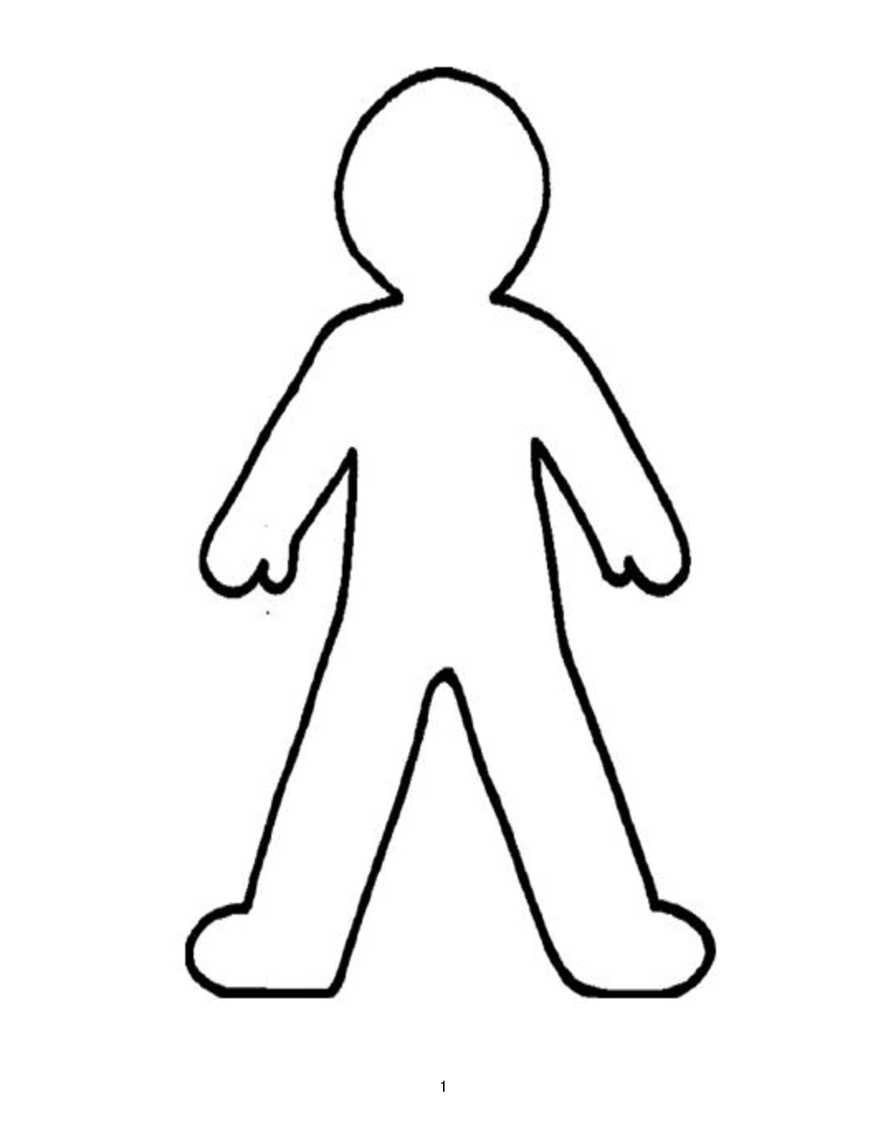 Doll Outline Template ClipArt Best Printable Pinterest School
