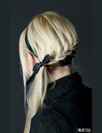 Maybe with a light color ribbon for dark hair