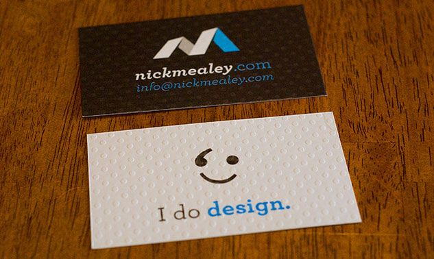 nick mealey business card  cardview  business card
