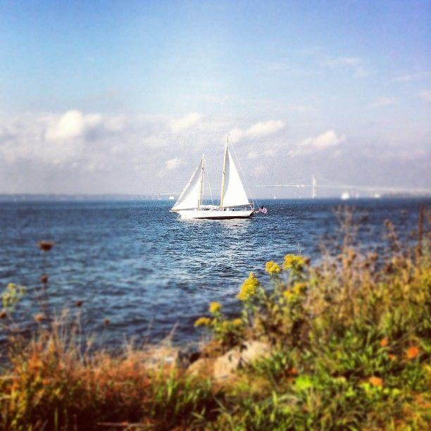 Rhode Island Beaches: View From Fort Adams In Newport, RI