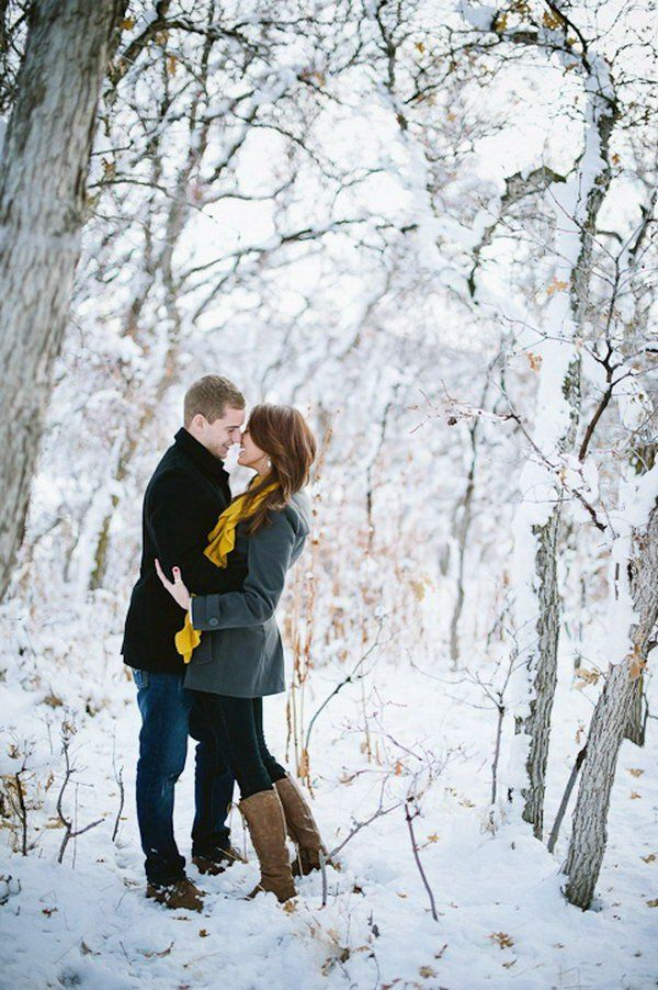Choose winter engagement photos to capture the winter wonderland that awaits them outdoors it is really romantic getting warm and cozy with your loved one