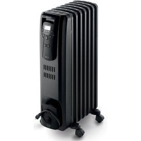 De Longhi Oil Filled Radiant Tower Electric Space Heater With Thermostat And Energy Saving Setting Seems Oil Filled Radiator Best Space Heater Radiator Heater