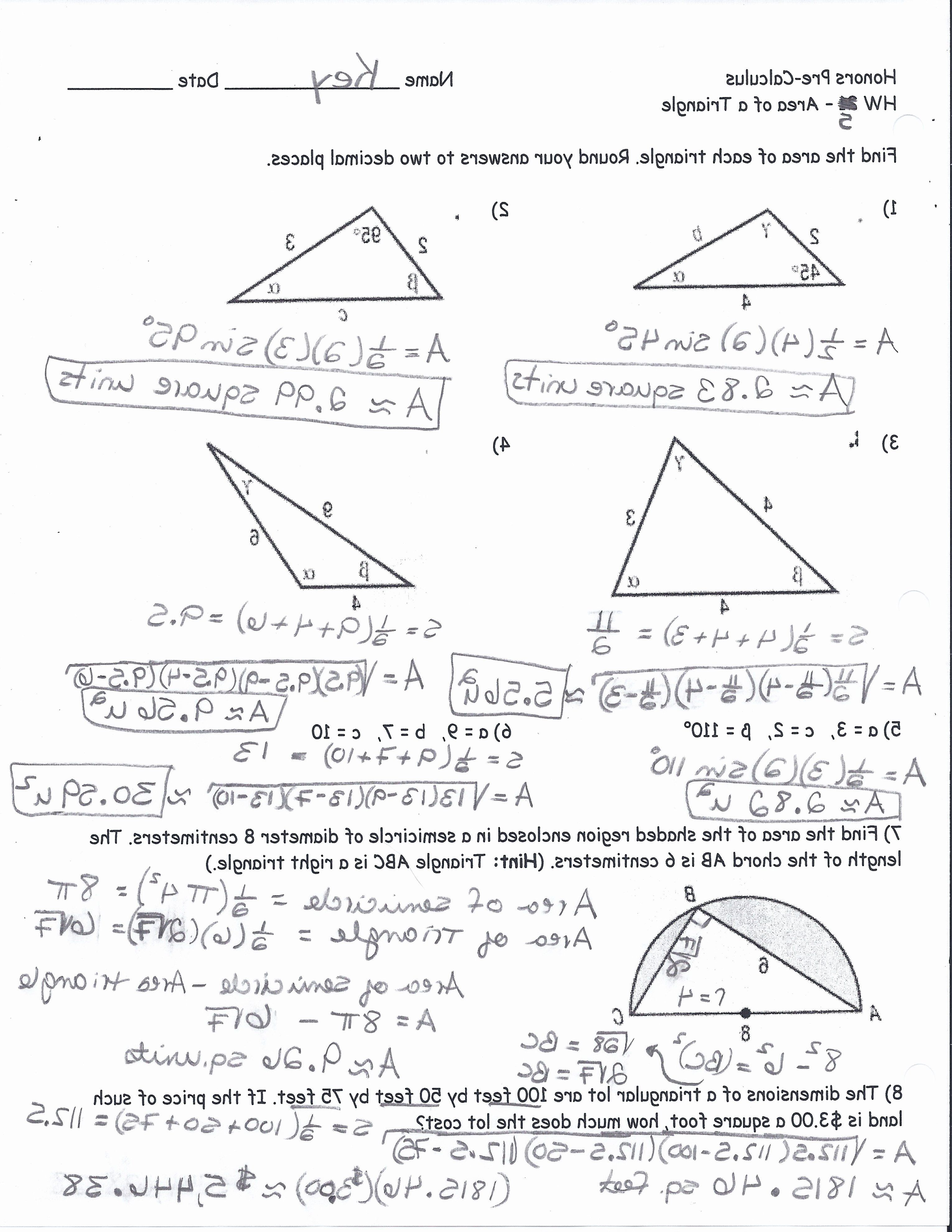 Right Triangle Trig Worksheet Answers Inspirational Right