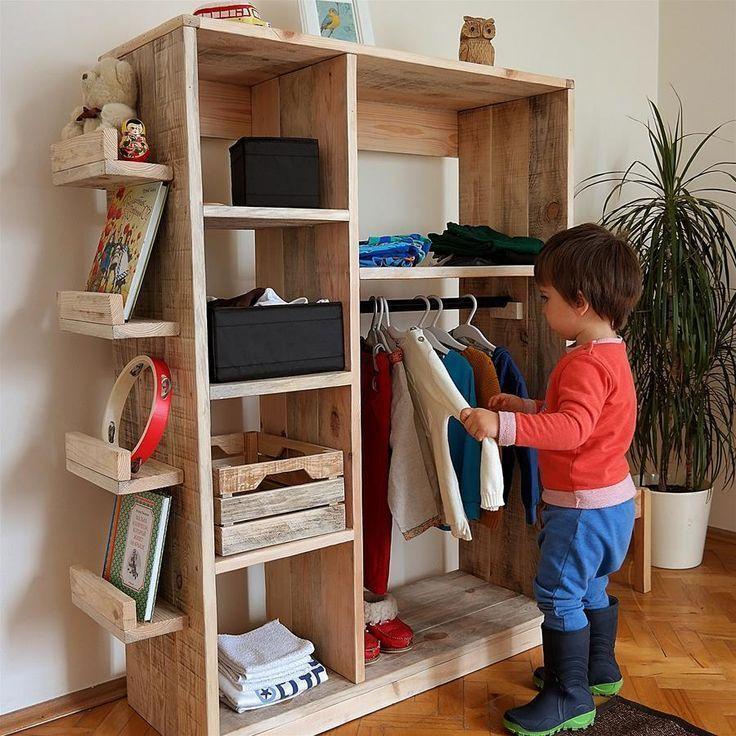 Solid Wood Montessori Kids Coat Designs in