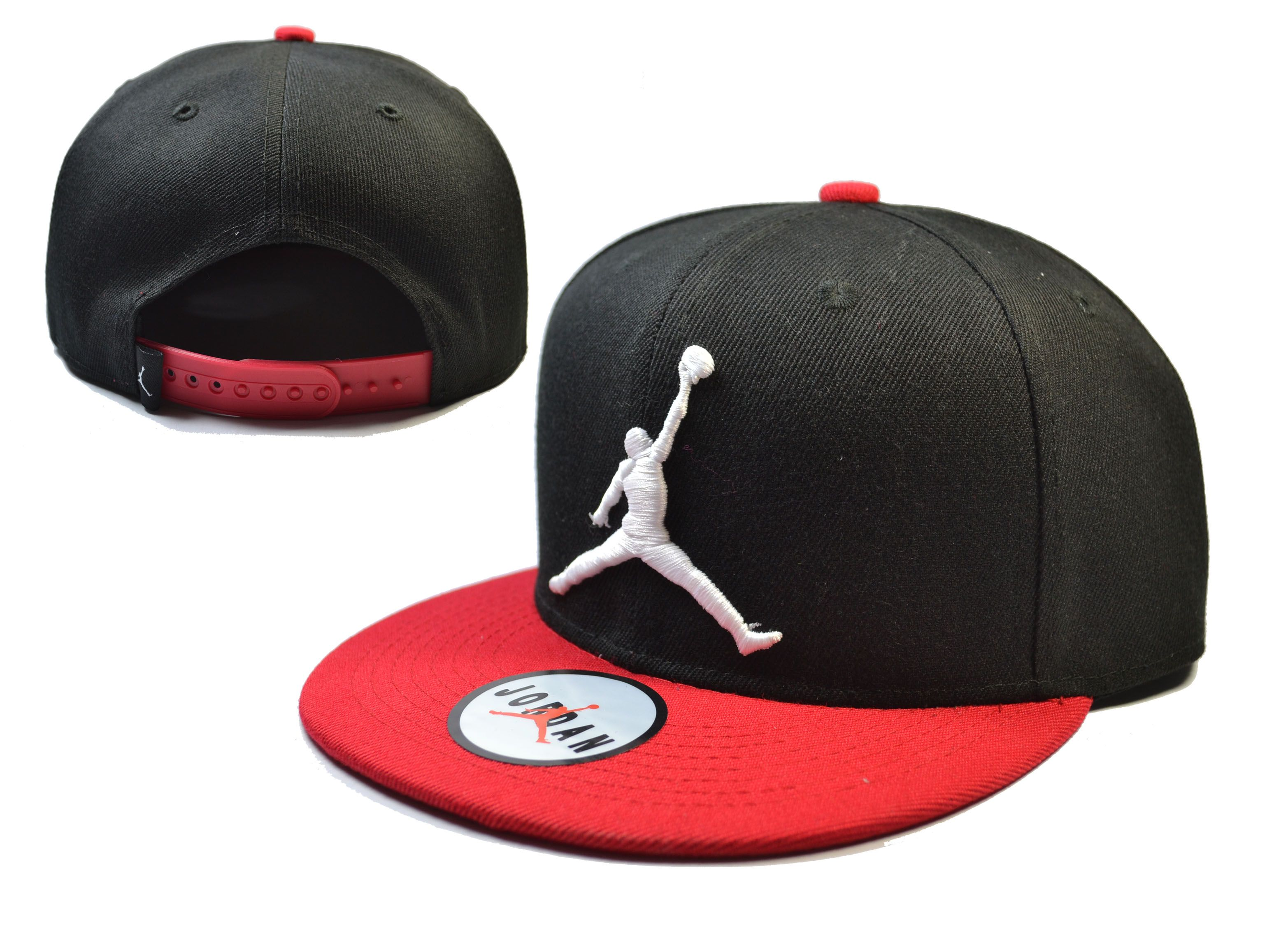 red and black jordan snapback