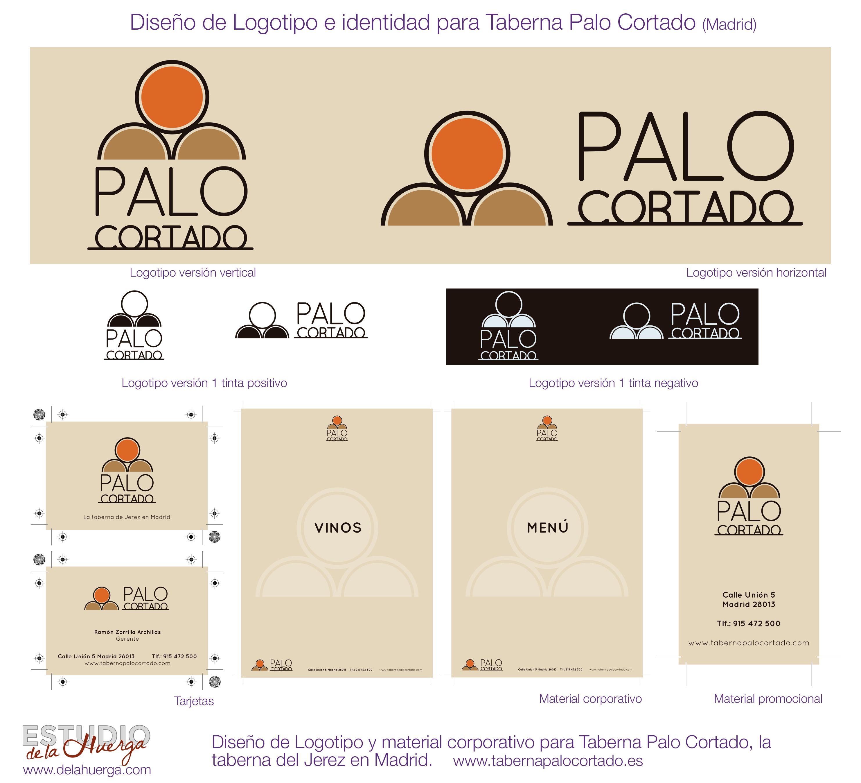 Diseño de Identidad Corporativa para Palo Cortado.