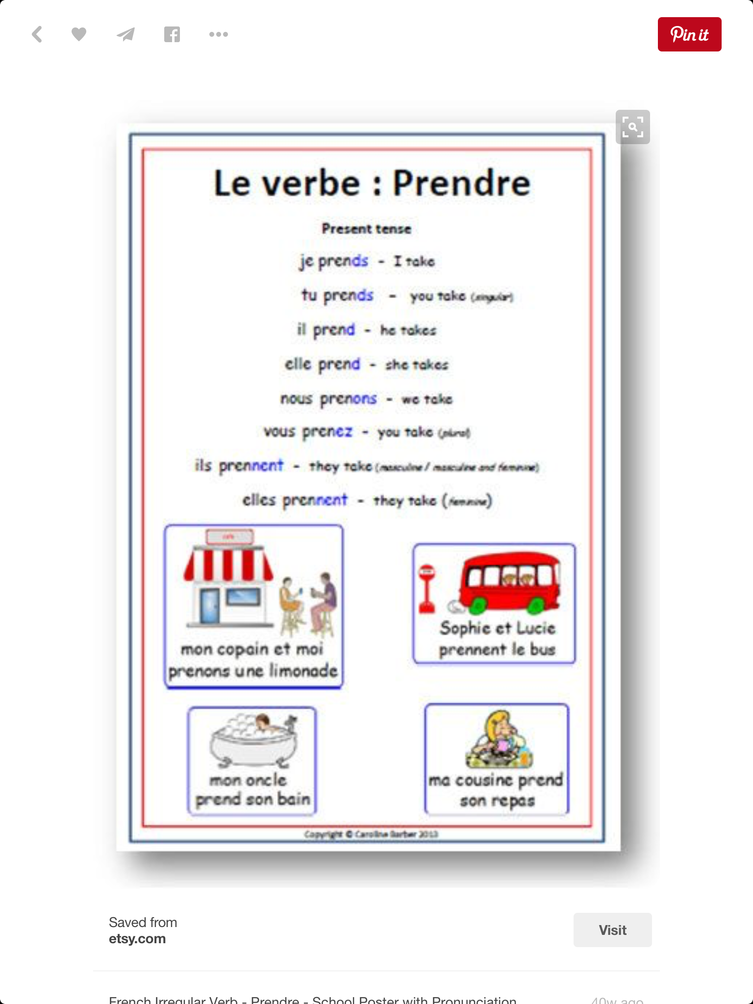 French Worksheets Image By Betsy Mitcheson On Learn French