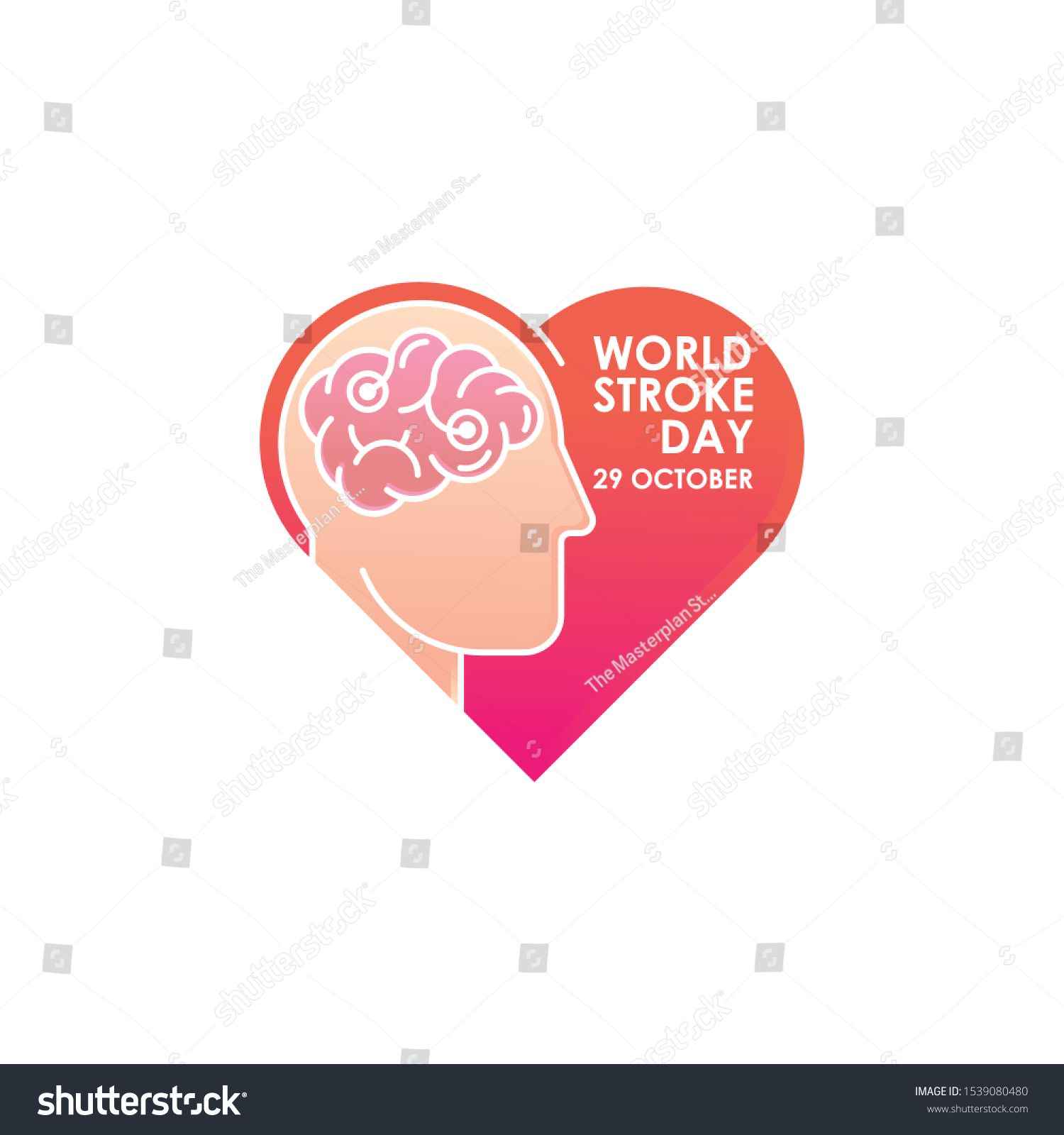 World Stroke Day Vector Logo Poster Illustration Of World Stroke Day On October 29th Health Care Awareness Campaign Ad In 2020 World Stroke Day Vector Logo Vector