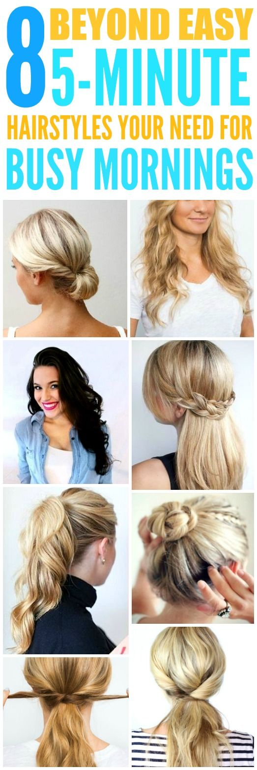 beyond easy minute hairstyles for those crazy busy mornings