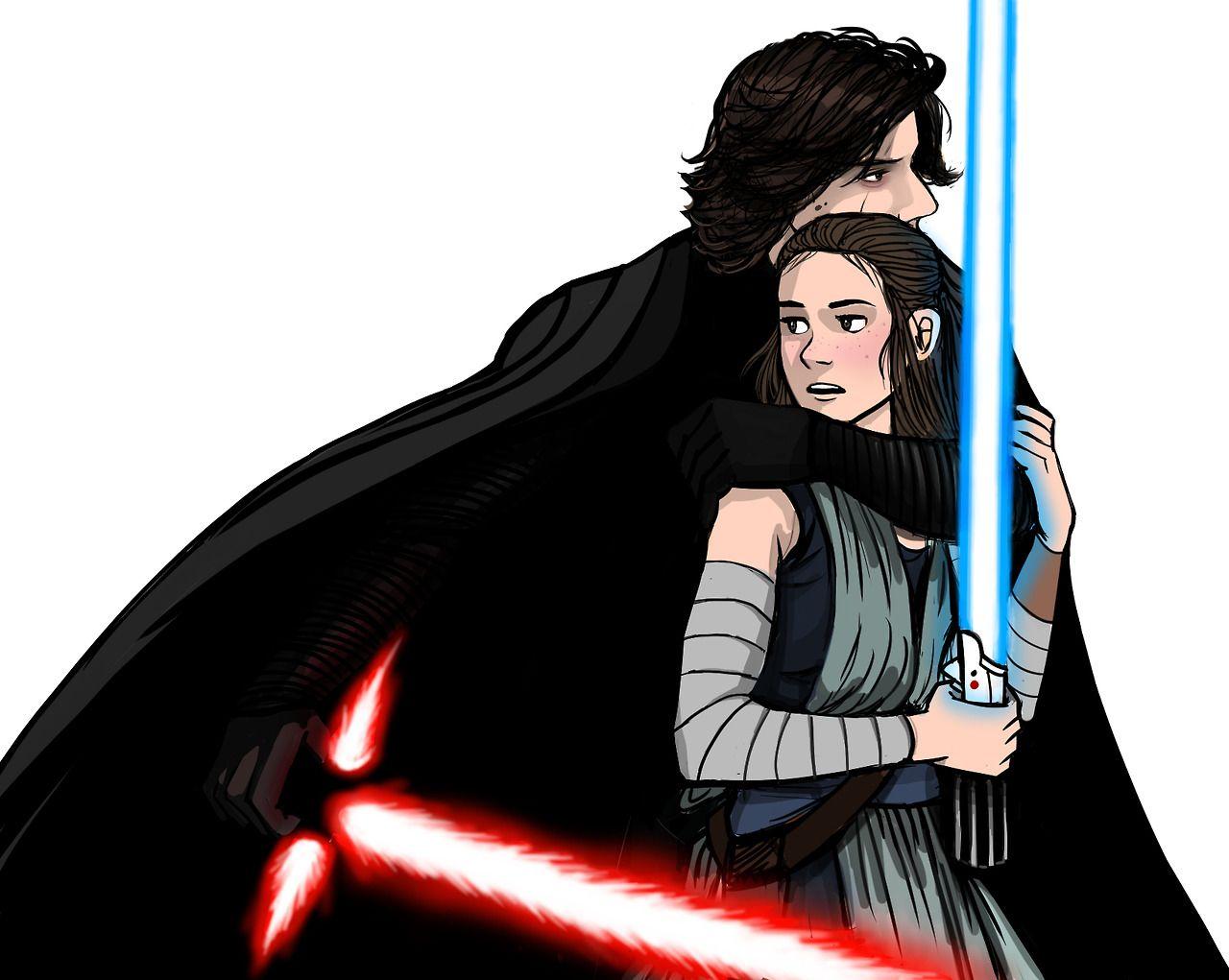 He Protectin Her So Cute Rey Star Wars Ray Star Wars Reylo