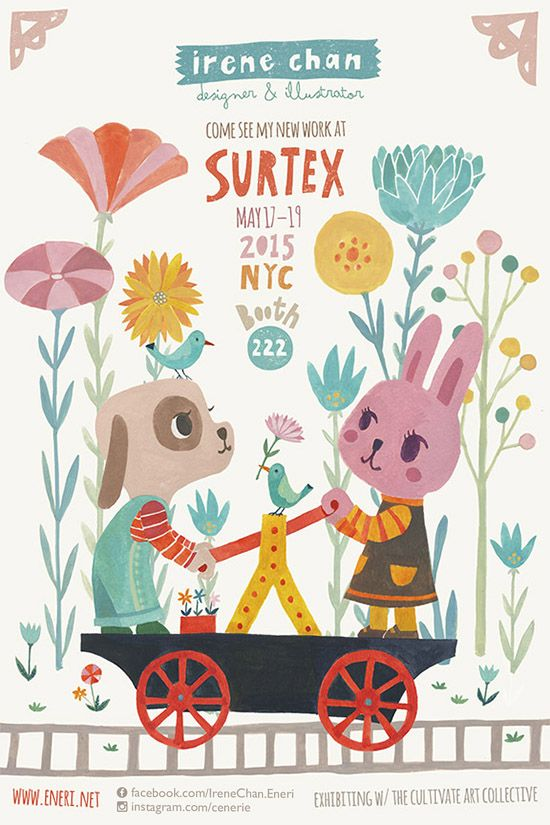 Visit Irene in booth 222 at Surtex!
