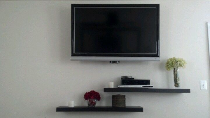 Floating Shelves Under Tv