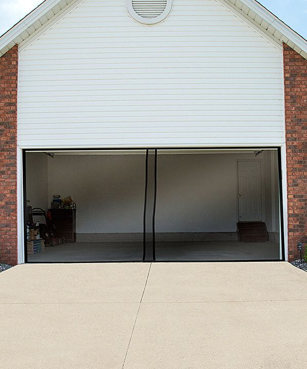 Look At This Black Two Car Garage Door Screen On Zulily Today Garage Door Design Garage Screen Door Garage Doors