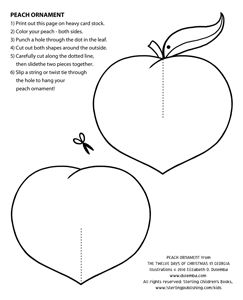 Coloring Page Tuesday Peach Christmas Ornament Peach The