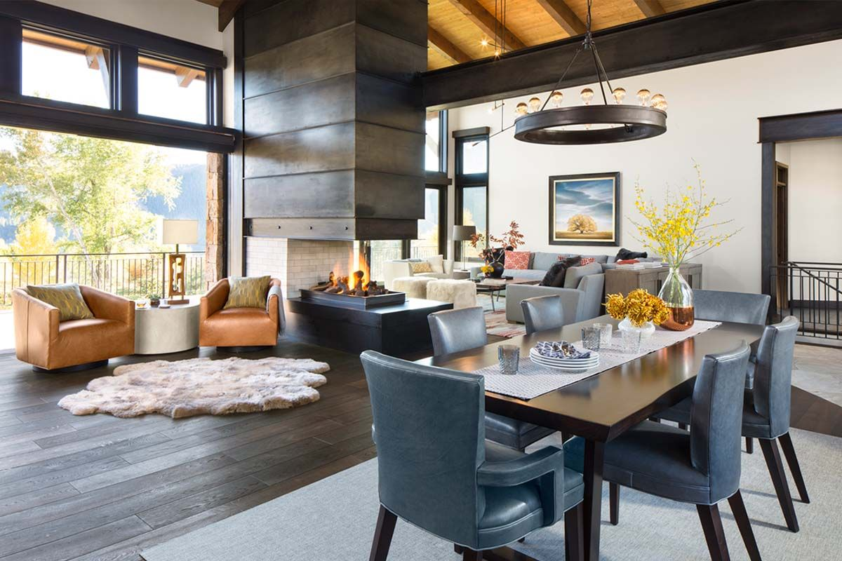 vail valley retreat is defined by impressive mountain surroundings