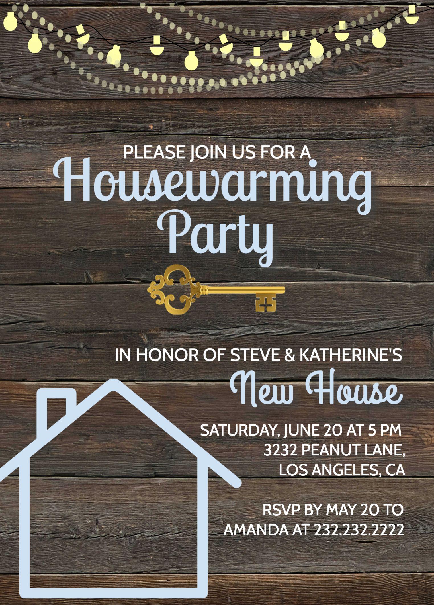 rustic housewarming invitation