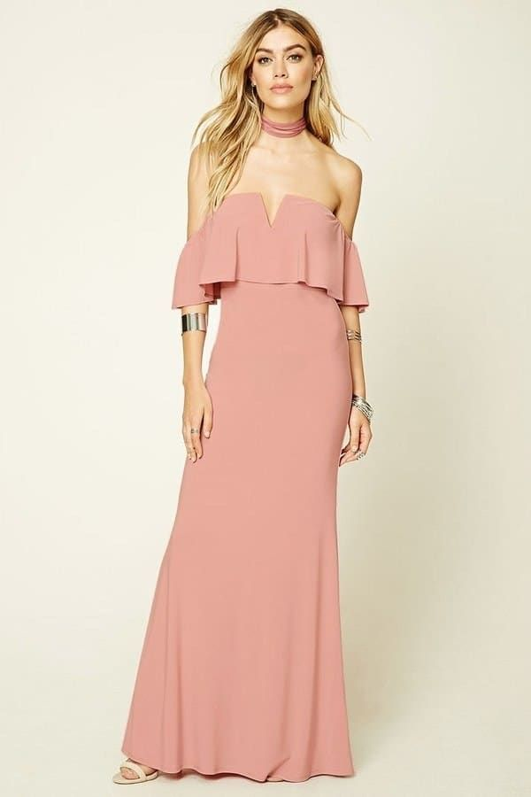 6ef44cd287f 10 Millennial Pink Dresses Your Bridesmaids Will Love Printed Bridesmaid  Dresses