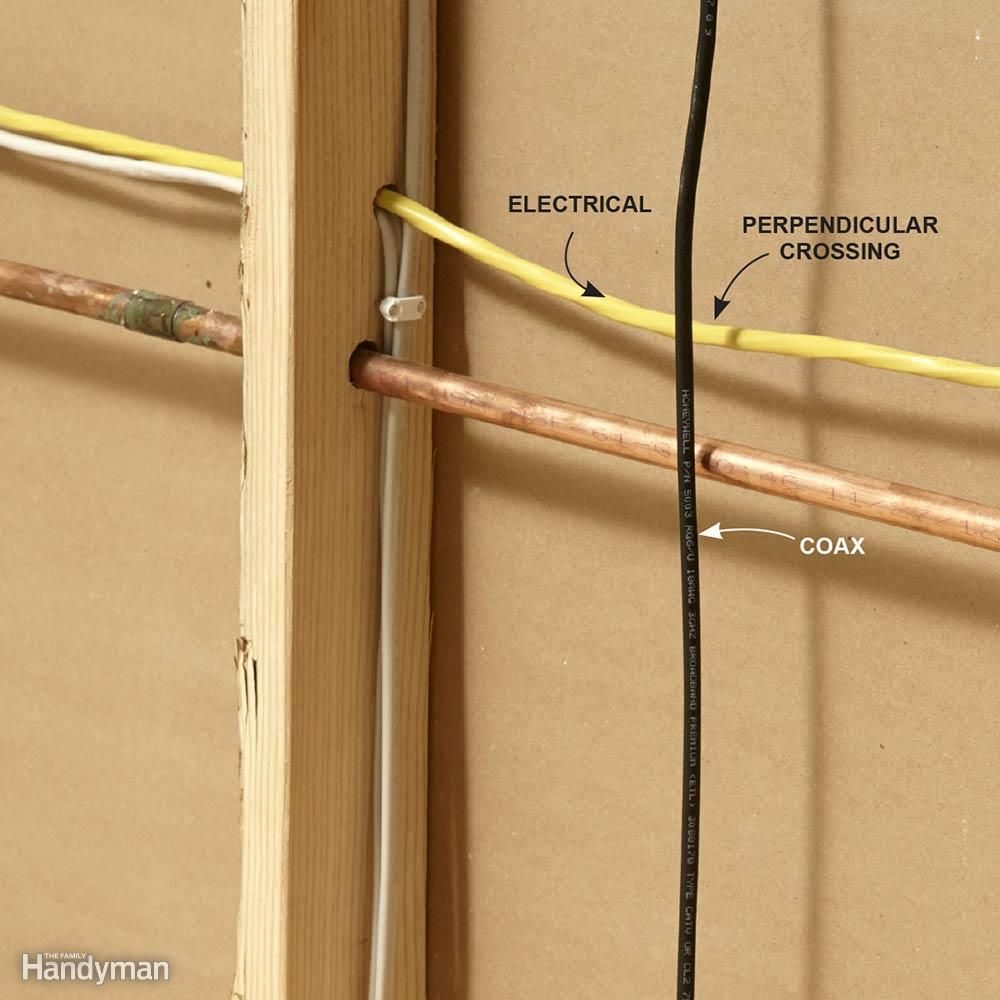 Run Coaxial Cables Perpendicular To Electrical How 240v House Wiring