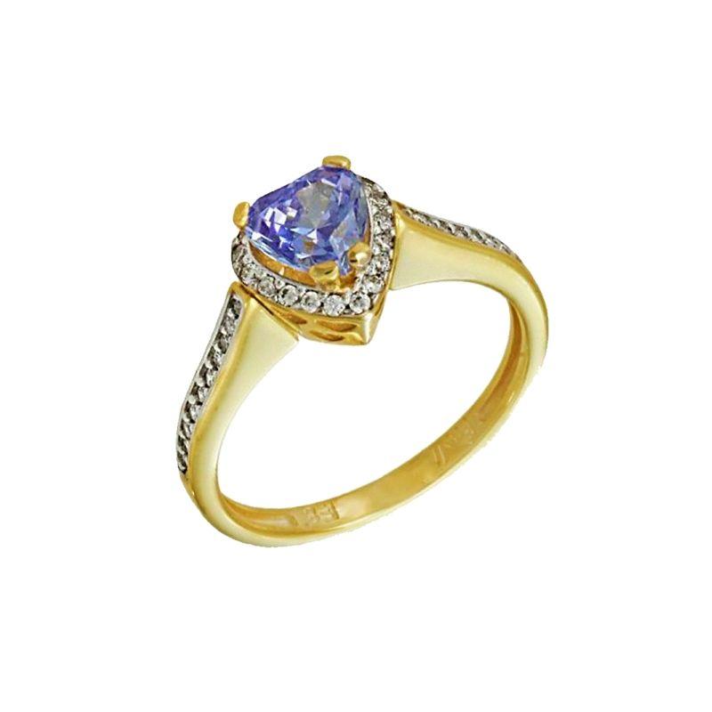 Μονόπετρο δακτυλίδι κίτρινο χρυσό Κ.14 (585°) με ζιργκόν Swarovski ... 07e7e5d78d6