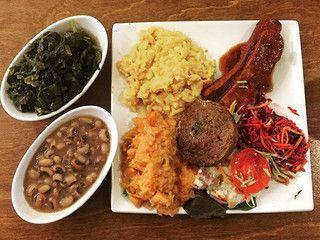 Organic Soul Food Platter At Stuff I Eat Vegan Restaurants Los Angeles Best