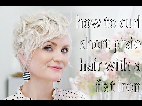 Pin By Samantha Chavez On Stylish How To Curl Short Hair Really Short Hair Curling Pixie Hair