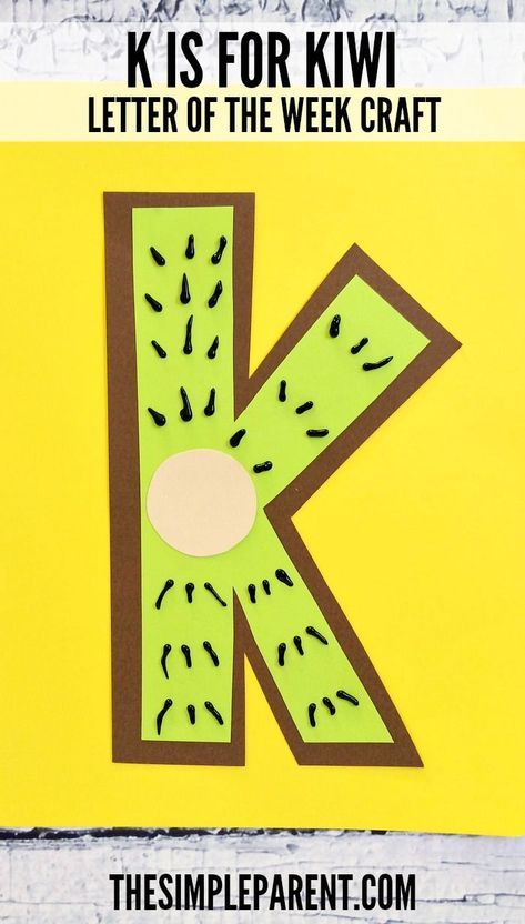 Awesome Make This Letter K Craft For Preschool! K Is For Kiwi! #SoftsoapTouch #