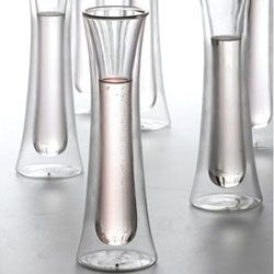 Beautiful Modern Champagne Flutes The Double Walled Glass Will Keep Your Bubbly As Cool As T Champagne Glasses Unique Champagne Flutes Modern Champagne Flutes