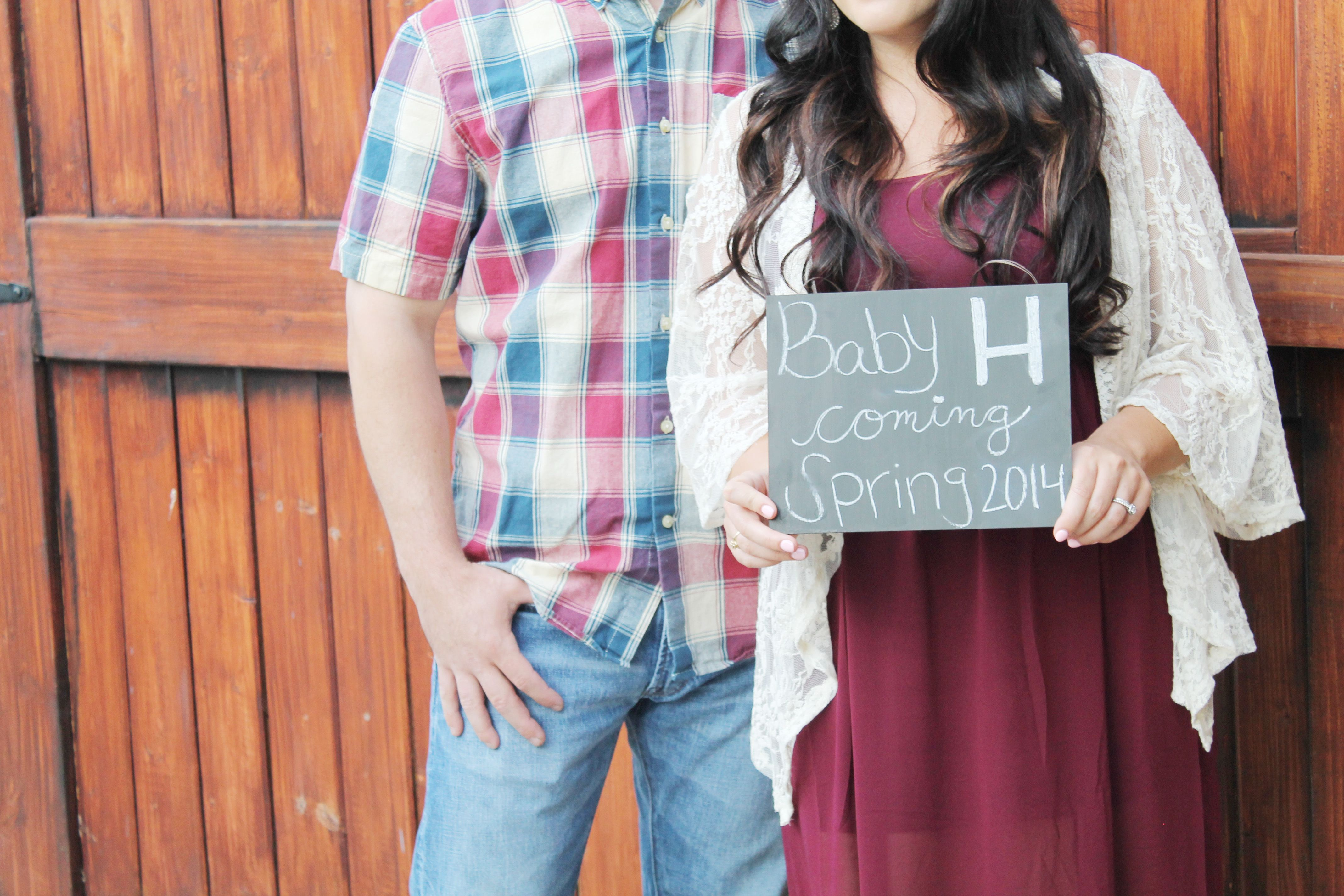 Pregnancy Announcement Littles Pinterest