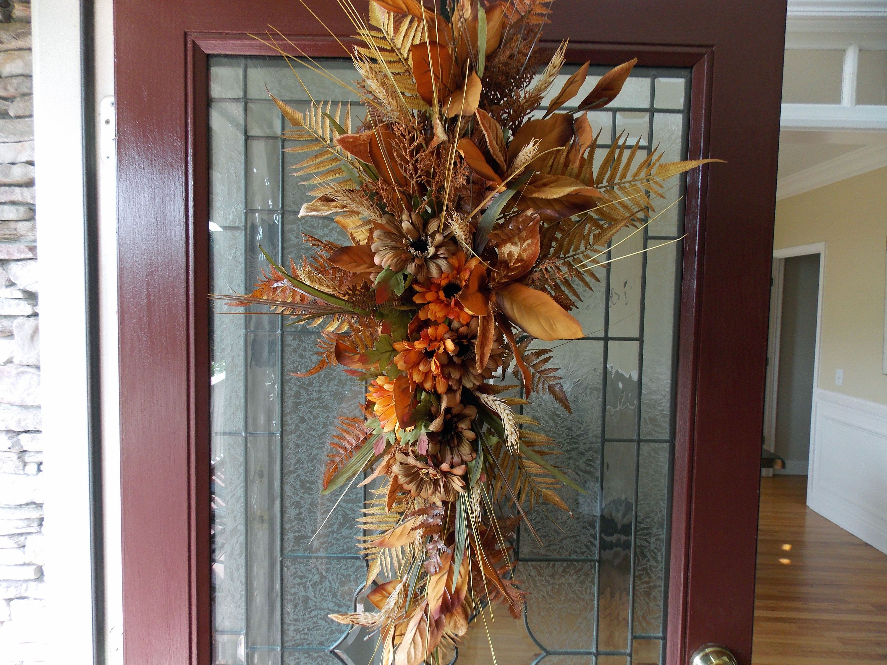Fall Wreath Fall Swags For Front Door Fall Wreaths For Front Door