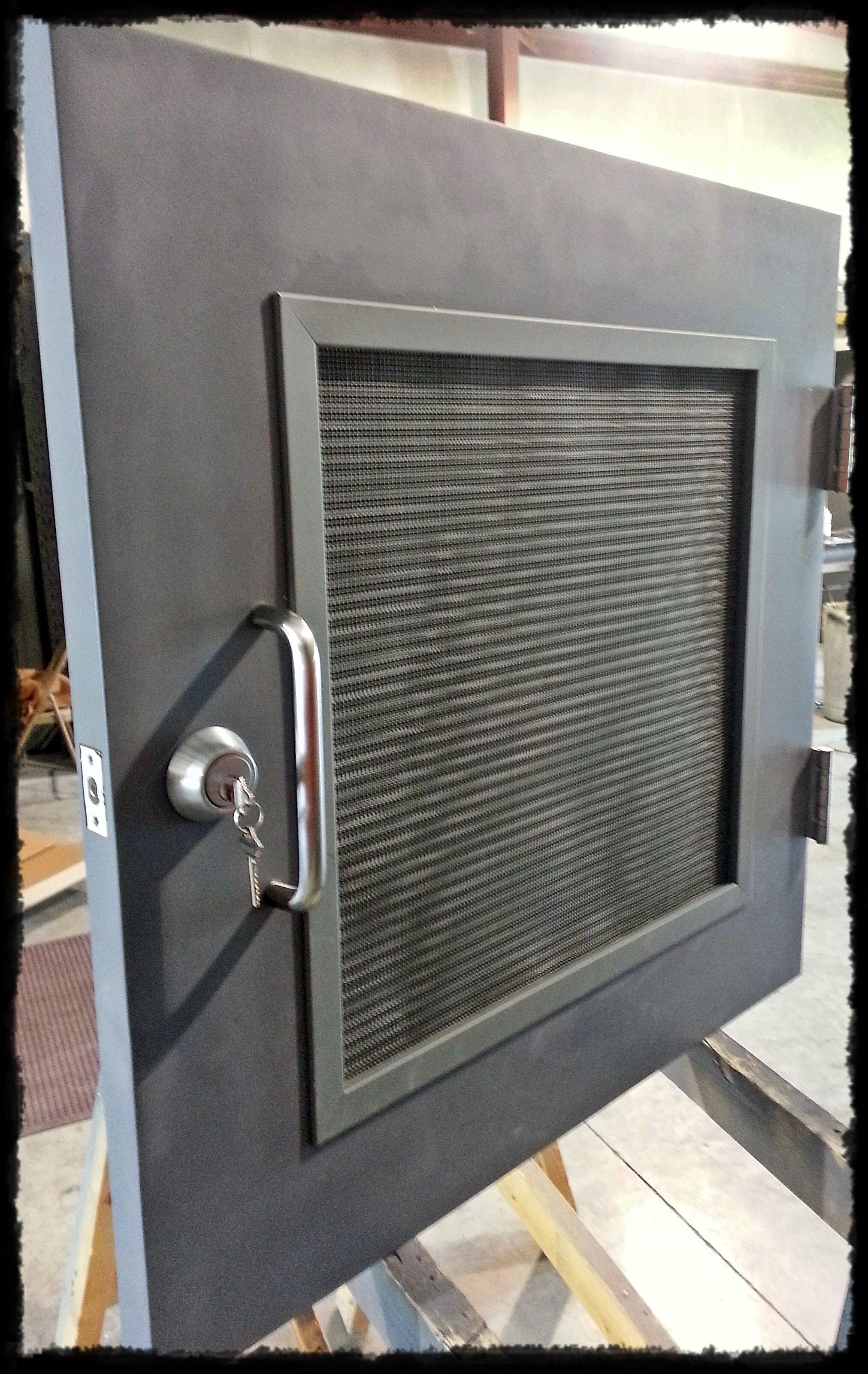 No Door Too Small Custom Hollow Metal Door Manufacturered By House Of Doors Louver With Insect Screen Stainless Crawlspace Hollow Metal Doors Metal Door