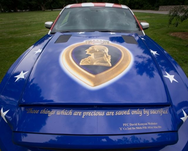 Wounded Warriors GT500 Super Snake Crossing Auction Block   StangTV