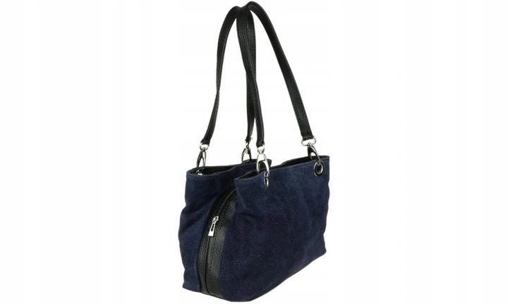 Damska Torebka Granatowa Zamszowa 30x20 Cm 9071774649 Oficjalne Archiwum Allegro Bucket Bag Bags Fashion