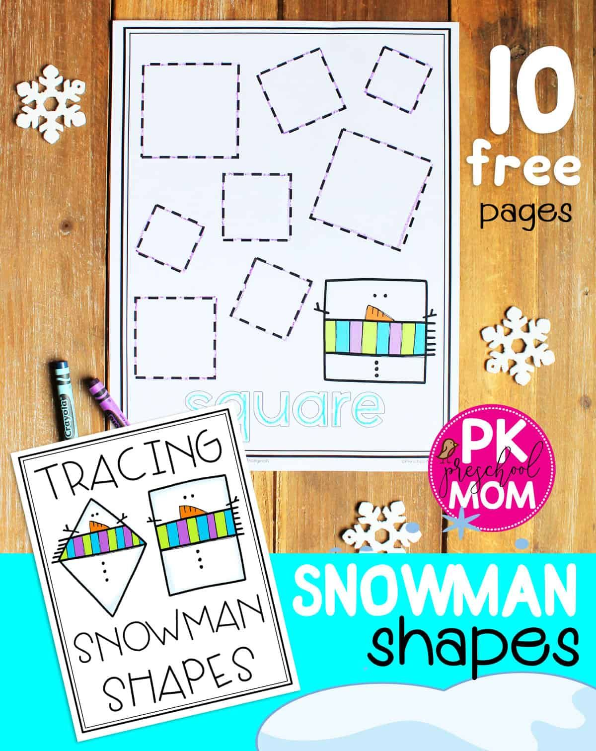 Tracing Snowman Shapes In With Images