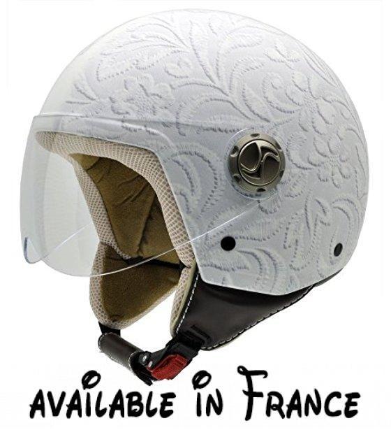 CWP Blanc//Rose NZI Vintage II Casque de Moto 57