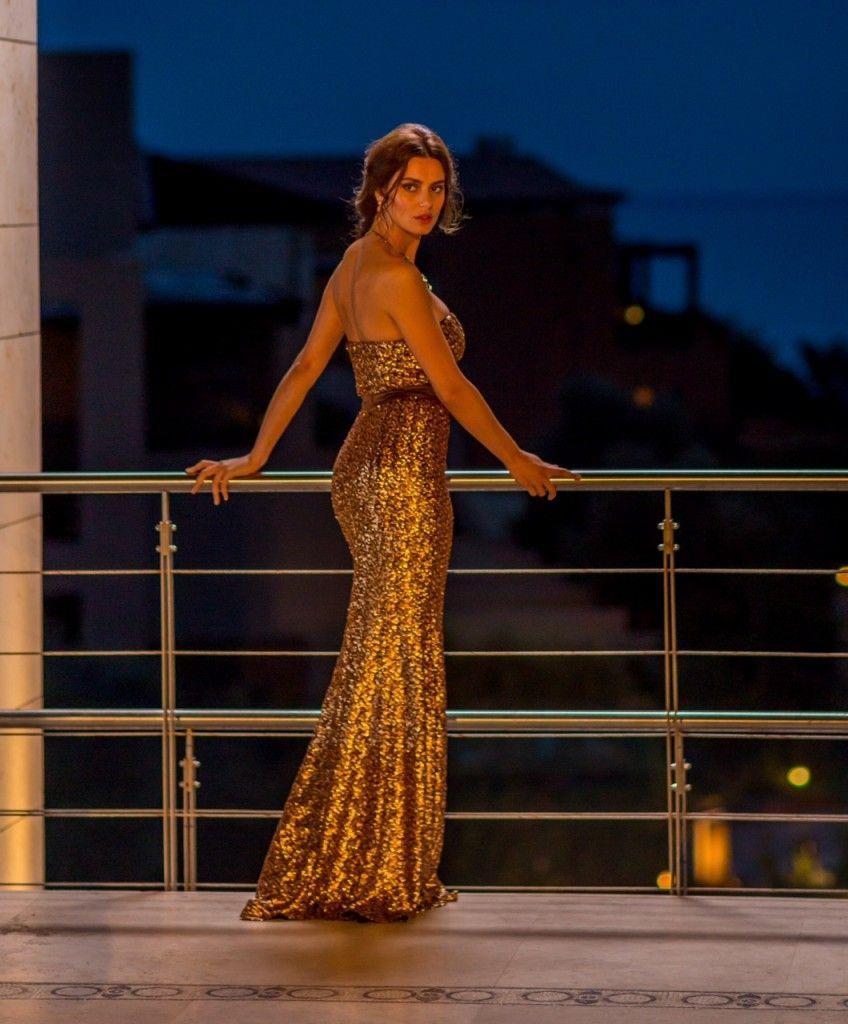 CRISTALLINI #EveningDress #GoldDress #Sequins #GlamourStyle ...