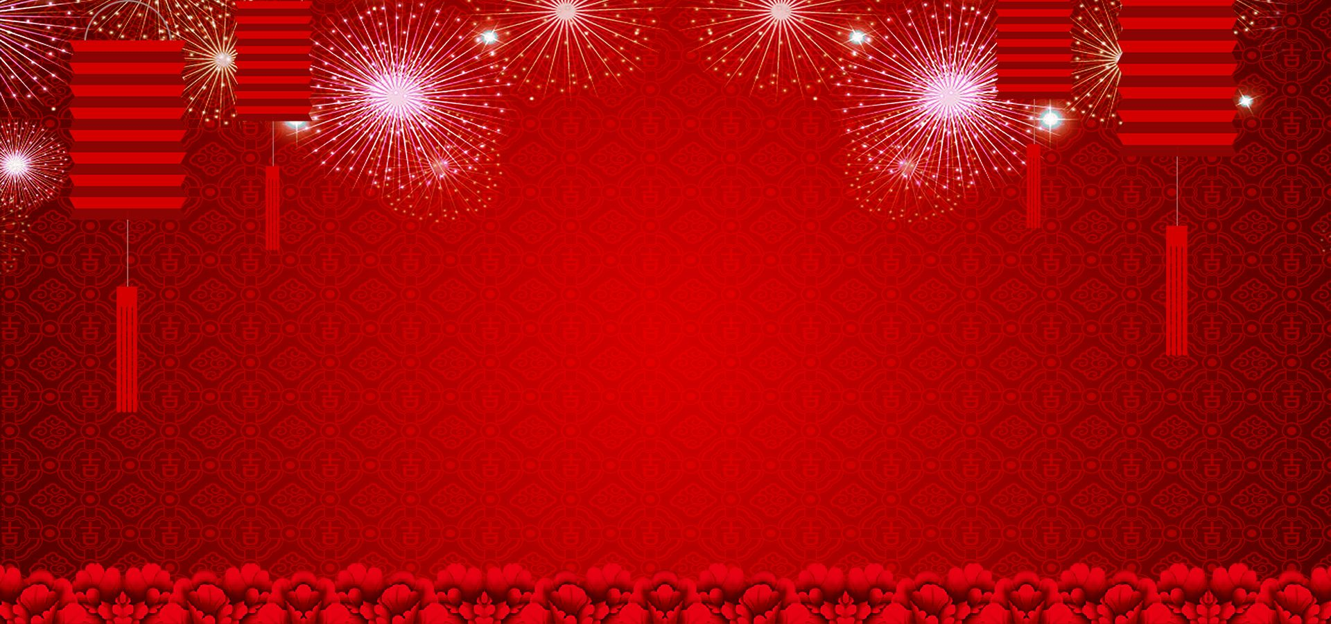 red lanterns chinese new year style poster background