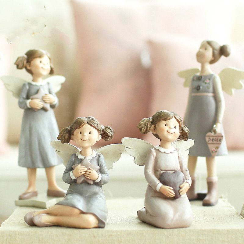 European Style Living Room Decoration Crafts Creative Resin Car Decoration Anna Angel Gift