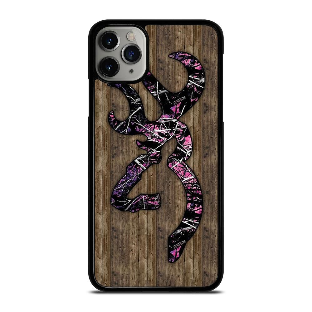 Camo browning pink wood iphone 11 pro max case cover