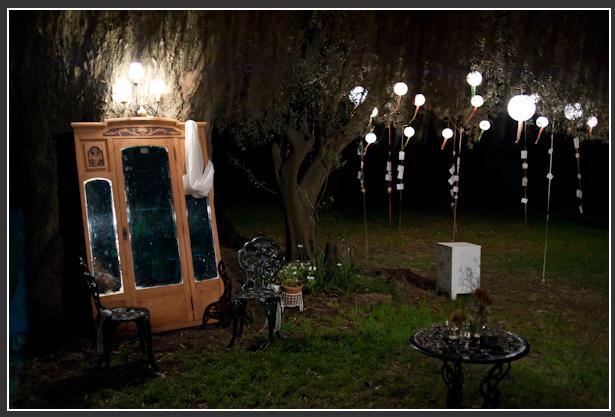 Mirror & lanterns