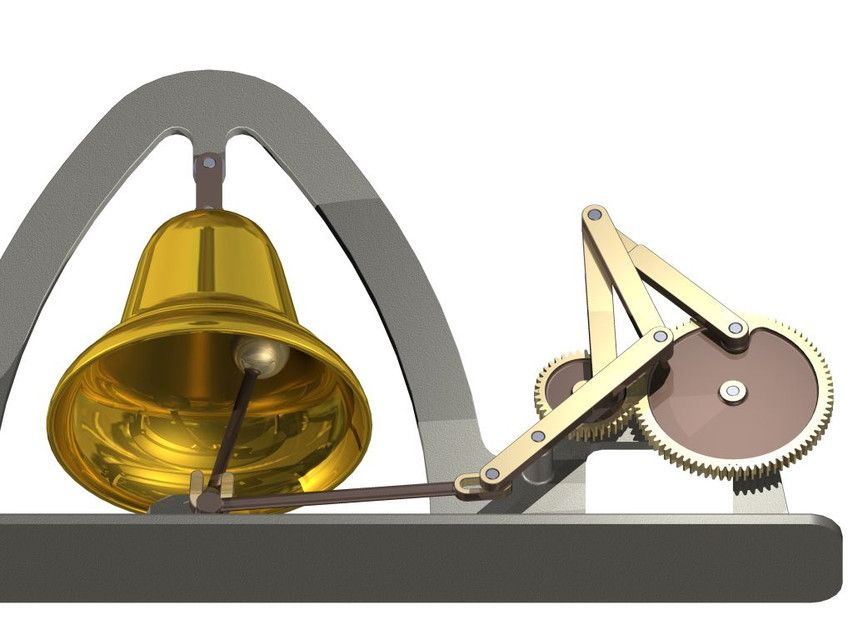 Bell is ringing step igesautodesk inventor 3d cad model original project made with autodesk inventor the animation and renderings were made by using the inventor studio module ccuart Image collections