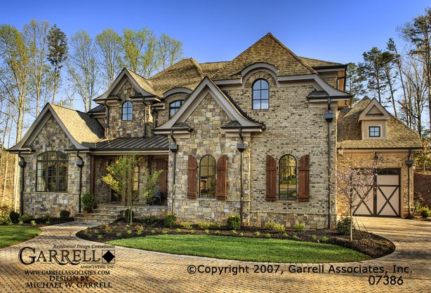Garrell associates inc mon chateau house plan 07386 for Dream country homes