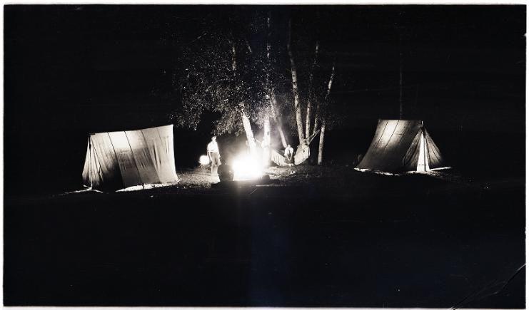 Night camping scene. 1925-1952. UHPC, University Archive ...