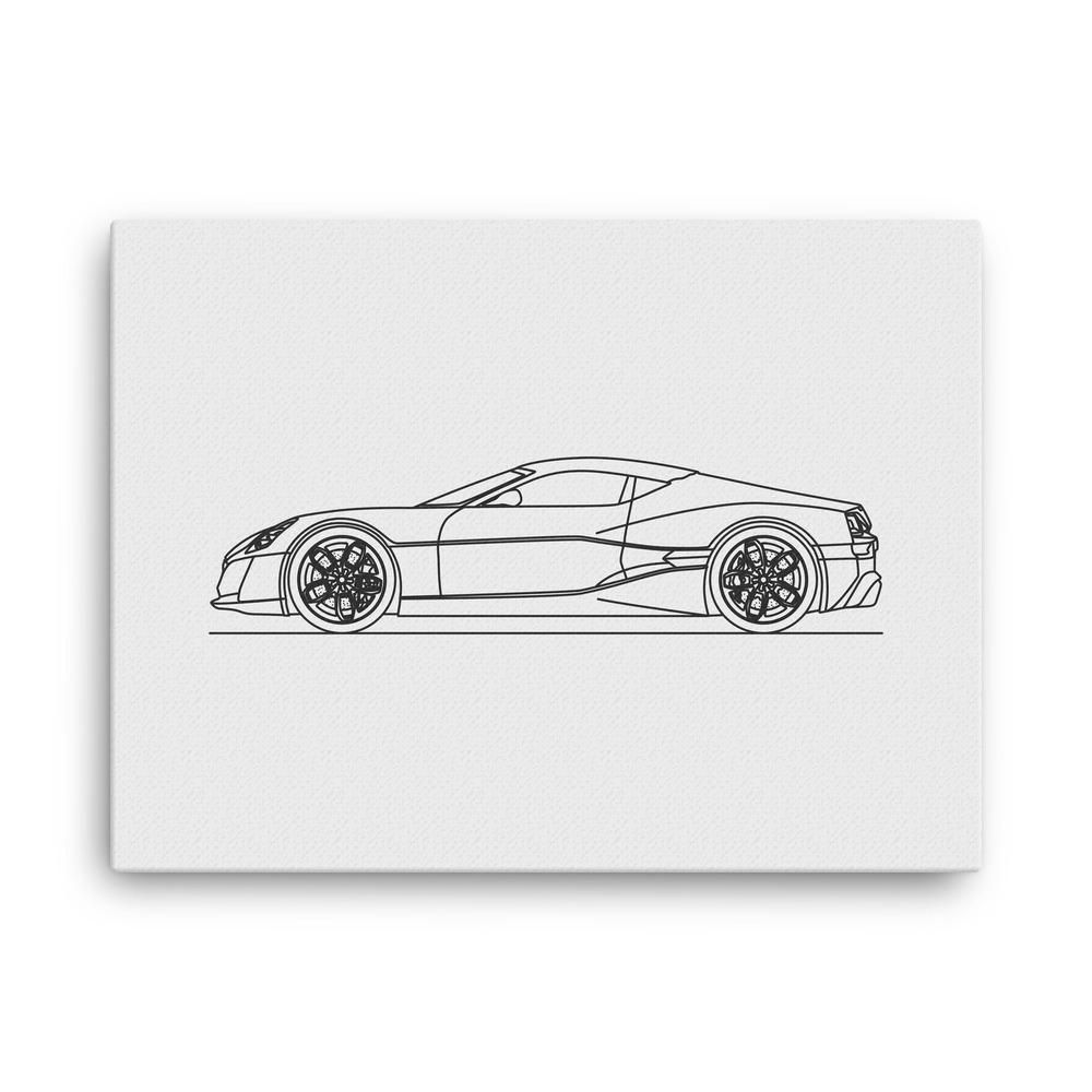 Concept one minimal line art canvas canvases and products
