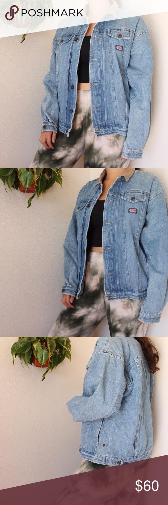 Vintage columbia denim jacket fleece vest columbia sportswear and