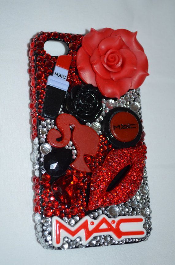 Mac Makeup Lovers IPhone 4 /4s Custom Blinged Out Case on ...